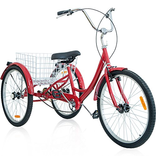 Merax-26-Inch-3-Wheel-Bike-Adult-Tricycle-Trike-Cruise-Bike-Red-0