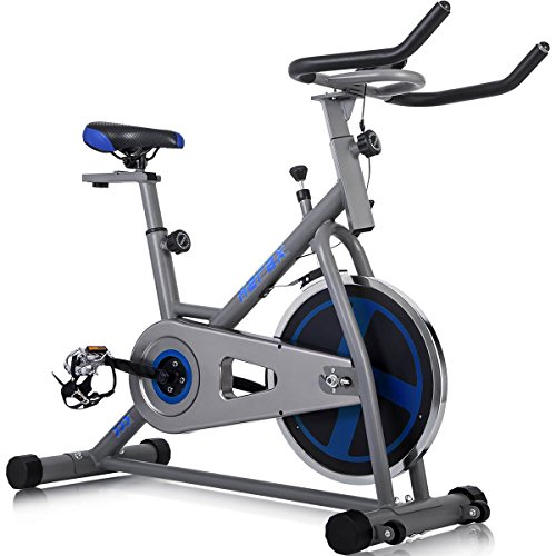Merax-Indoor-Cycling-Bike-Cycle-Trainer-Exercise-Bicycle-GrayBlue-0