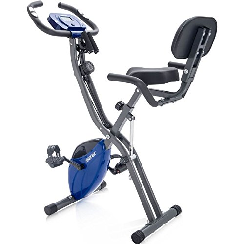 Merax-Indoor-Cycling-Magnetic-Folding-Convertible-Upright-Recumbent-Exercise-X-Bike-with-Resistance-Bands-Phone-Holder-Blue-0
