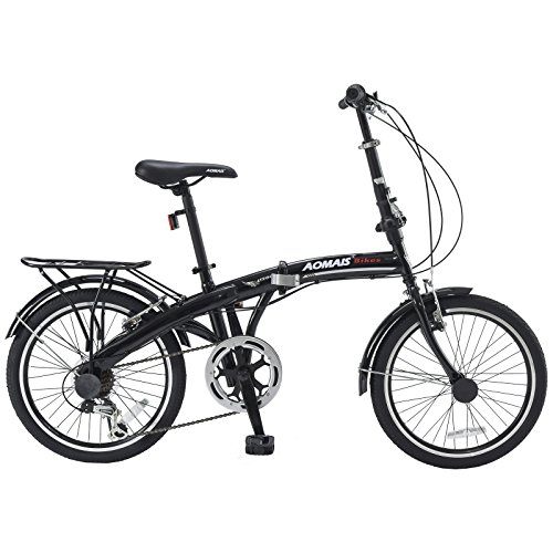 ORKAN-20-6-Speed-Folding-Bicycle-Foldable-Bike-Road-Bike-Shimano-Hybrid-Black-0