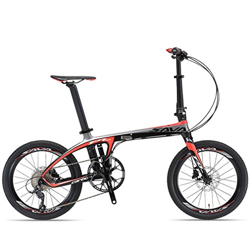 SAVADECK-20-Folding-Bike-Carbon-Fiber-Frame-Mini-Compact-City-Bicycle-9S-Disc-Brake-0