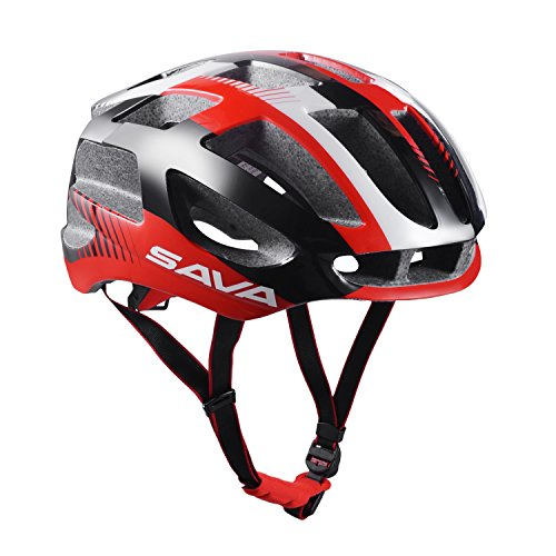 SAVADECK-Adjustable-Adults-Cycling-Bike-Helmet-with-Inner-Padding-Specialized-for-Men-Women-Safety-Protection-Ultralight-31-Vents-Ventilation-and-Integrally-molded-Red-0