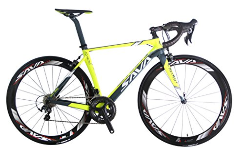 SAVADECK-Graceful-10-700C-Road-Bike-T800-Carbon-Fiber-Frame-50MM-Wheelset-Fork-Handlebar-Seatpost-Headset-with-SHIMANO-6800-22-Speed-System-Maxxis-23C-Tire-and-Fizik-Saddle-181lbs-Yellow-0