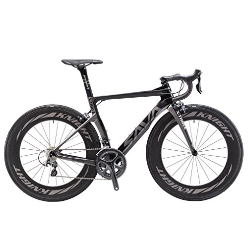 SAVADECK-Phantom-20-700C-Carbon-Fiber-Road-Bike-SHIMANO-Ultegra-6800-22-Speed-Group-Set-with-HUTCHINSON-25C-Tire-and-Fizik-Saddle-Black-Grey54cm-0