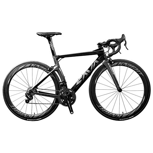 SAVADECK-Phantom-80-700C-Carbon-Fiber-Road-Bike-Cycling-Bicycle-with-CAMPAGNOLO-CHORUS-22-Speed-Groupset-MICHELIN-25C-Tire-and-Fizik-Saddle-Grey-54cm-0