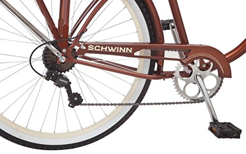 Schwinn-Mens-Sanctuary-7-Speed-Cruiser-Bicycle-26-Inch-Wheels-CreamCopper-18-Inch-0-3