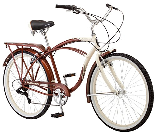 Schwinn-Mens-Sanctuary-7-Speed-Cruiser-Bicycle-26-Inch-Wheels-CreamCopper-18-Inch-0