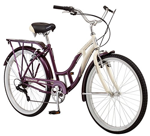 Schwinn-Womens-Sanctuary-7-Speed-Cruiser-Bicycle-26-Inch-Wheels-CreamPurple-16-Inch-0
