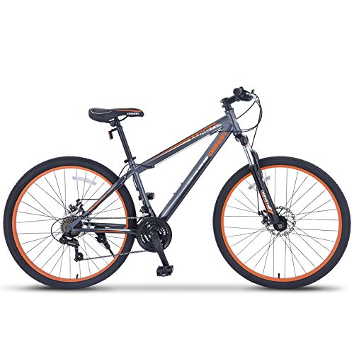 Uenjoy-ORKAN-275-MTB-Shimano-Hybrid-21-Speed-Mountain-Bike-Mountain-Bike-Grey-Orange-0