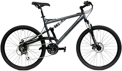 2018-Gravity-FSX-10-Dual-Full-Suspension-Mountain-Bike-with-Disc-Brakes-Shimano-Shifting-Gray-19in-0