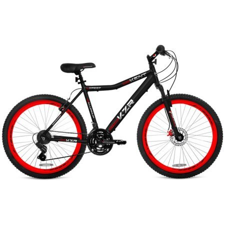 26-Mens-Kent-KZR-Mountain-Bike-BlackRed-Front-disc-and-rear-linear-pull-hand-brakes-0