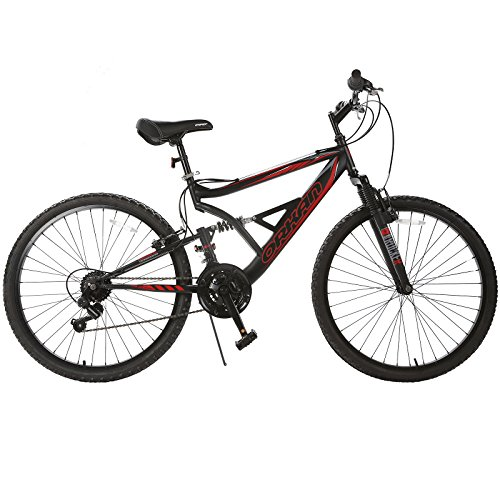 ORKAN-Mountain-Bike-26-Men-Women-Hybrid-Bike-MTB-18-Speed-Full-Suspension-Shimano-Red-Black-0