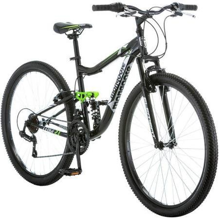 275-Mongoose-Ledge-21-Mens-Bike-for-a-Path-Trail-MountainsBlack-Aluminum-Full-Suspension-Frame-Twist-Shifters-Through-21-Speeds-0