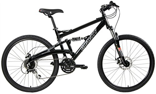 2018-Gravity-FSX-10-Dual-Full-Suspension-Mountain-Bike-with-Disc-Brakes-Shimano-Shifting-Black-21in-0