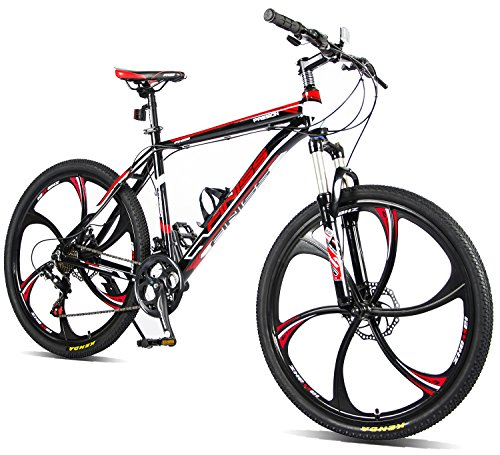 Merax-26-Aluminum-Mountain-Bike-Shimano-21-Speed-Bicycle-6-Spoke-Magnesium-Alloy-Wheels-Bike-Stylish-Black-0