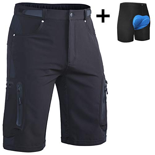 Ally-Padded-Mountain-Bike-Shorts-Mens-MTB-Shorts-Cycling-Bicycle-Shorts-with-Removable-Padding-Underwear-Liner-Water-Repellent-7-Pockets-0