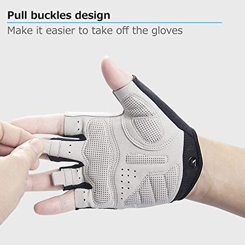 Lanyi-Cycling-Gloves-Bike-Gloves-Mens-Womens-Shock-Absorbing-Pad-Anti-Slip-Half-Finger-Weight-Lifting-Gloves-Biking-Gloves-Workout-Gloves-Mountain-Climbing-Bicycle-Exercise-Gloves-GreenL-0-3