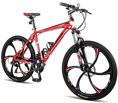Merax-26-Aluminum-Mountain-Bike-21-Speed-Bicycle-6-Spoke-Magnesium-Alloy-Wheels-Bike-BlackRed-0