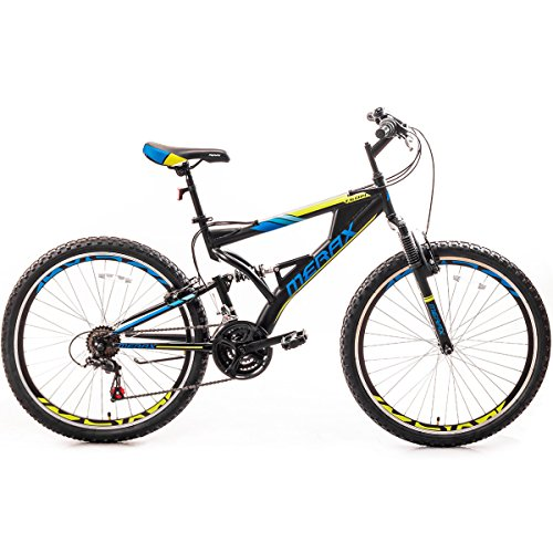 Merax-Falcon-Full-Suspension-Mountain-Bike-Aluminum-Frame-21-Speed-26-inch-Bicycle-BlackBlue-0