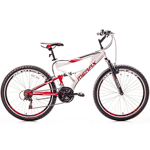 Merax-Falcon-Full-Suspension-Mountain-Bike-Aluminum-Frame-21-Speed-26-inch-Bicycle-White-Red-0