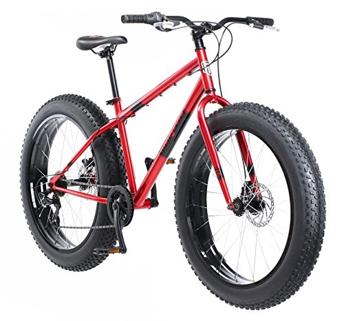 Mongoose-Dolomite-Fat-Tire-Mountain-Bike-Featuring-17-InchMedium-High-Tensile-Steel-Frame-7-Speed-Shimano-Drivetrain-Mechanical-Disc-Brakes-and-26-Inch-Wheels-Red-0