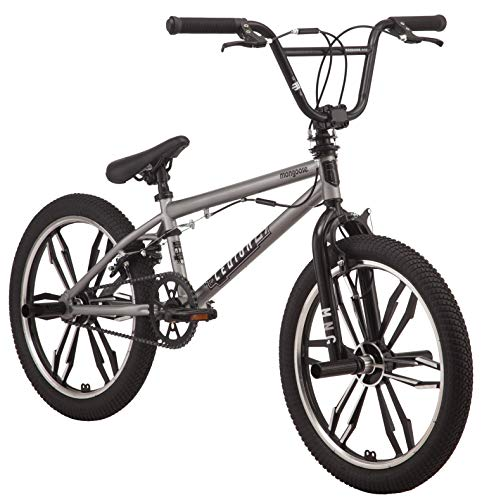 Mongoose-Legion-Mag-Freestyle-BMX-Bike-Featuring-Hi-Ten-Steel-Frame-and-40x16T-BMX-Gearing-with-20-Inch-Mag-Wheels-Silver-0
