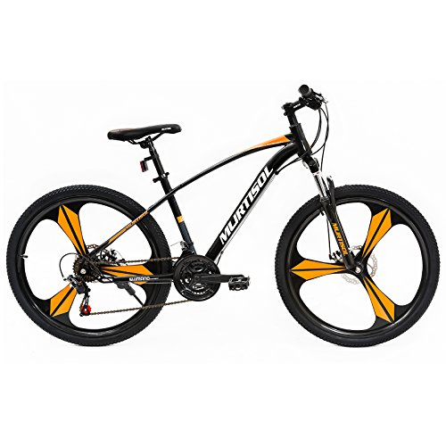 Murtisol-Aluminum-Mountain-Bikes-with-Mag-Wheels21-Speeds-Hybrid-Bikes-with-Dual-Disk-BrakeOrangeBlack-0