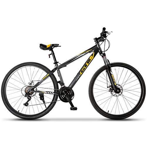 Murtisol-Mountain-Bike-275-Hybrid-Bicycle-21-Speed-with-SuspensionDual-Disc-Brake-Yellow-Black-0