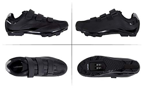 Tommaso-Montagna-100-Mens-Mountain-Bike-MTB-Spin-Cycling-Shoe-Compatible-with-SPD-Cleats-Black-43-0-1