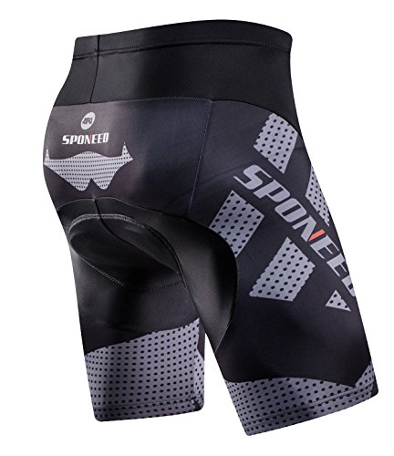 sponeed-Mens-Bike-Shorts-Padded-Race-Fit-Bicycle-Bottoms-Not-Baggy-Cycling-Short-Racing-Fit-US-Medium-Grey-0-1