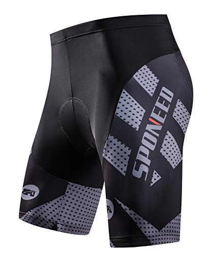 sponeed-Mens-Bike-Shorts-Padded-Race-Fit-Bicycle-Bottoms-Not-Baggy-Cycling-Short-Racing-Fit-US-Medium-Grey-0