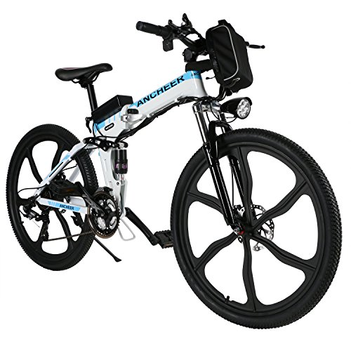 ANCHEER-Folding-Electric-Mountain-Bike-with-26-Super-Lightweight-Magnesium-Alloy-6-Spokes-Integrated-Wheel-Premium-Full-Suspension-and-Shimano-21-Speed-Gear-0