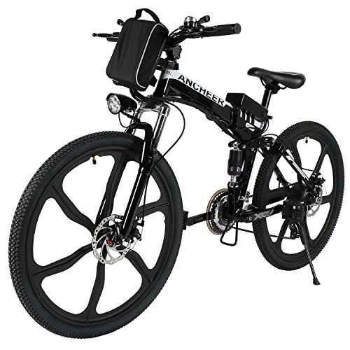 ANCHEER-Power-Plus-Electric-Mountain-Bike-26-Electric-Bike-with-36V-8Ah-Lithium-Ion-Battery-Shimano-21-Speed-Shifter-Folding-Integrated-Wheels-Black-0