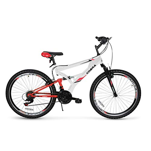 Akonza-Cobra-Dual-Full-Suspension-Outdoor-Mountain-Bicycle-Compatible-with-21-Speed-Shifter-Road-Bike-26-Inch-White-0