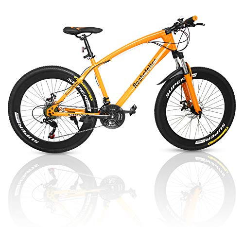 Outroad-Mountain-Bike-21-Speed-700CC-Double-Disc-Brake-Suspension-Springer-Fork-Orange26-in-0
