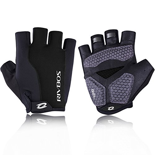 RIVBOS-Bike-Gloves-Cycling-Gloves-Fingerless-for-Men-Women-with-Gel-Padding-Breathable-Mesh-Fashion-Design-for-Mountain-Bicycle-Motorcycle-Riding-Driving-Sports-Outdoors-Exercise-CHG002-Black-2XL-0