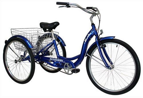 Schwinn-Meridian-Full-Size-Adult-Tricycle-26-wheel-size-Bike-Trike-blue-0