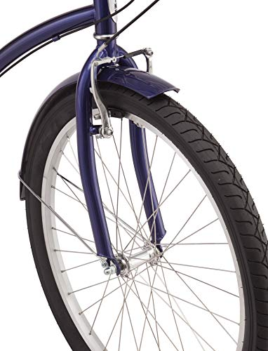 Schwinn-Mikko-Womens-Cruiser-Bike-Featuring-17-InchMedium-Steel-Frame-Seven-Speed-Drivetrain-Full-Front-and-Rear-Fenders-and-26-Inch-Wheels-Navy-0-2