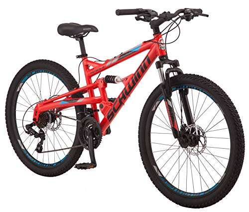 Schwinn-Protocol-10-Dual-Suspension-Mountain-Bike-with-Aluminum-Frame-26-Inch-Wheels-RedBlue-0