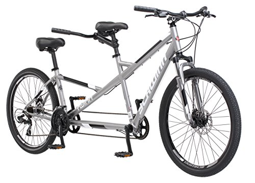 Schwinn-Twinn-Tandem-Bicycle-Featuring-Low-Step-Through-and-Lightweight-Aluminum-Frame-with-Mechanical-Disc-Brakes-26-Inch-Wheels-Large-Frame-Size-Grey-0