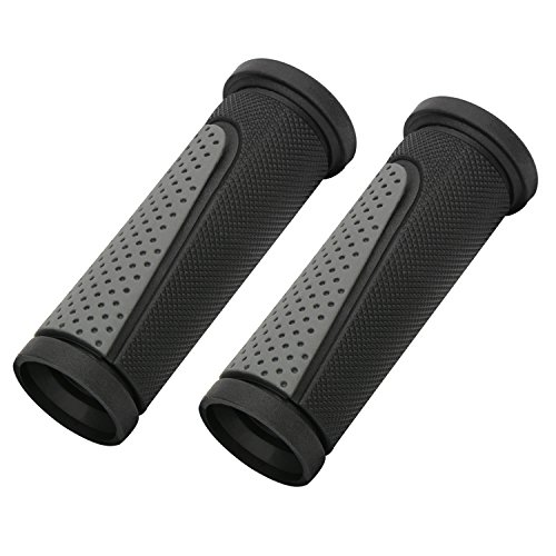 TOPCABIN-2x-Short-Mini-Handlebar-Bicycle-Grips-Fit-Many-Standard-Bikes-90MM-Length-Black-Grey-0