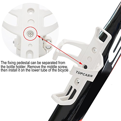 TOPCABIN-Adjustable-Bike-Bicycle-MTB-Water-Bottle-Holder-Water-Bottle-Rack-Cage-White-0-2