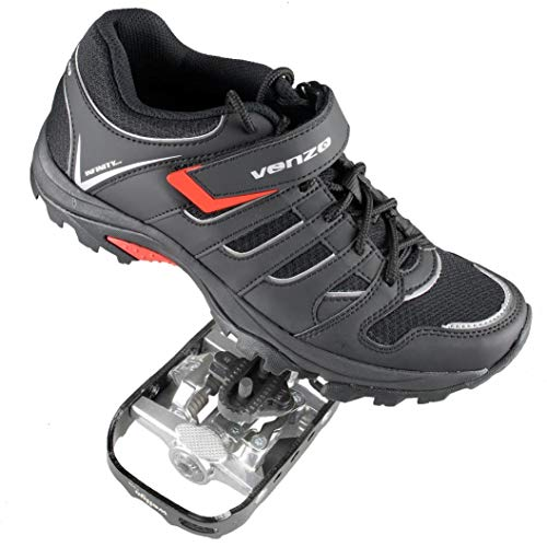 Venzo-Mountain-Bike-Bicycle-Cycling-Shimano-SPD-Shoes-Pedals-Cleats-445-0