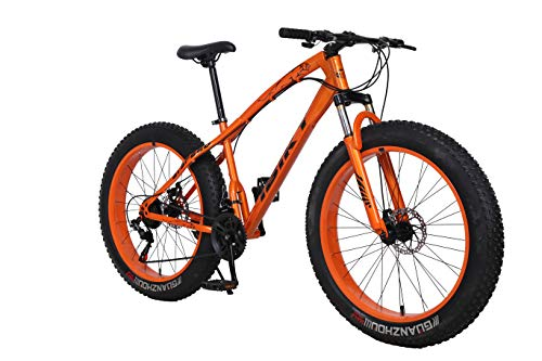 iBiky-26-Inch-Wheel-21-Speed-40-Fat-Tire-Bike-Snow-and-Grass-Sand-Bicycle-Mountain-Bike-with-Powerful-Disc-Brakes-Orange-0
