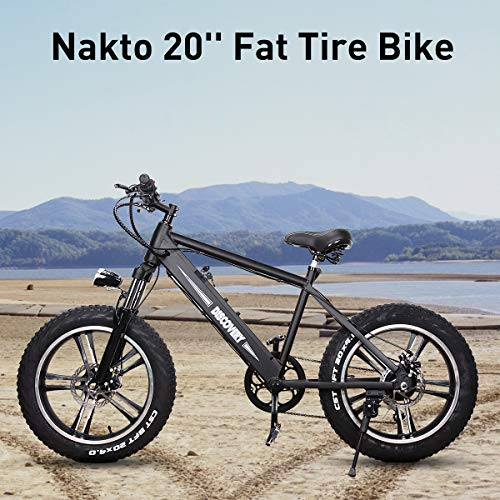 BRIGHT-GG-NAKTO-20-inch-300W-Fat-Tire-Electric-Bike-for-Adults-SnowMountainBeach-Ebike-with-Shimano-6-Speed-Gear-and-48V-8AH-Lithium-Ion-Battery-0-0