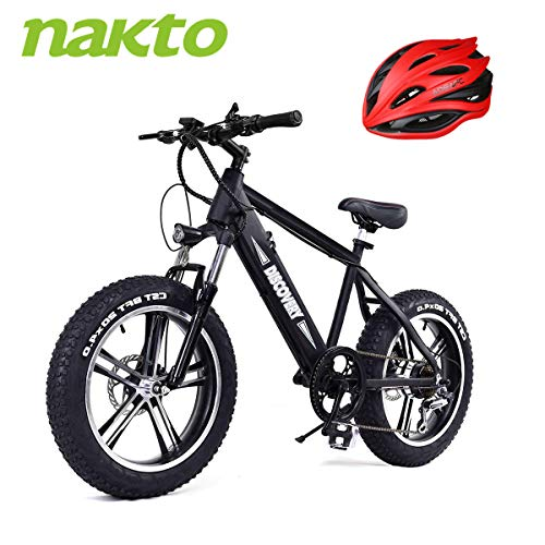 BRIGHT-GG-NAKTO-20-inch-300W-Fat-Tire-Electric-Bike-for-Adults-SnowMountainBeach-Ebike-with-Shimano-6-Speed-Gear-and-48V-8AH-Lithium-Ion-Battery-0