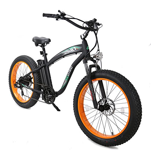 ECOTRIC-Fat-Tire-Electric-Bike-Beach-Snow-Bicycle-40-inch-Fat-Tire-26-1000W-48V-13Ah-ebike-Electric-Mountain-Bicycle-with-Shimano-7-Speeds-Black-Lithium-Battery-Electric-Mountain-Bicycle-Orange-0-1