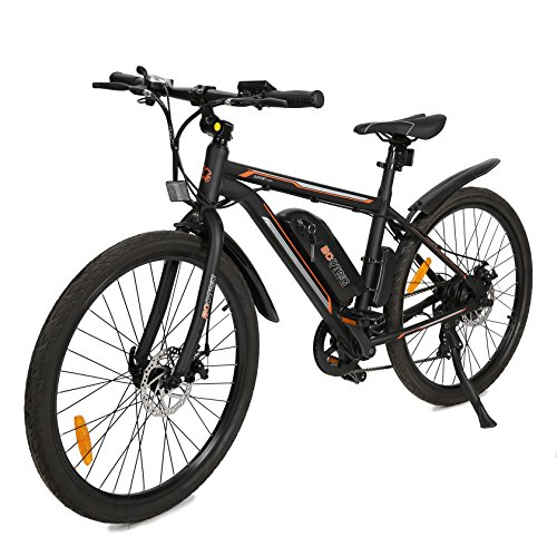 ECOTRIC-New-City-Travel-26-Electric-Bike-Mountain-350W-Power-36V9AH-Lithium-Battery-City-Ebike--Most-Parts-Have-Been-Assembled-Before-Packaging--20-mphh-Pure-Electric-Maximum-Speed-Black-0