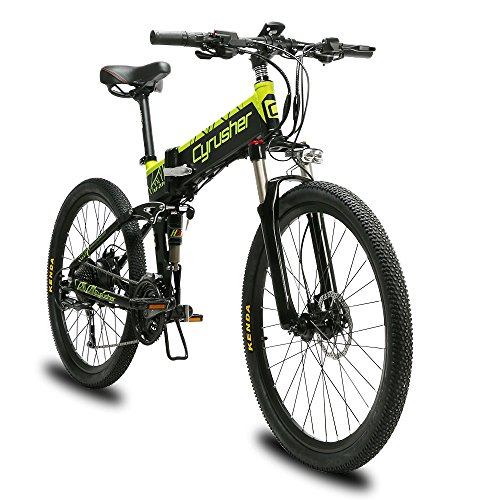 Extrbici-XF770-Electric-Bicycles-Folding-Electric-Bike-500watt-48v-10ah-Shimano-27-speeds-Full-Suspension-Black-Green-0