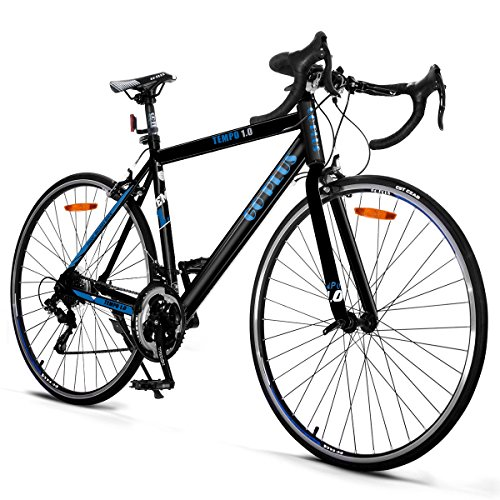 Goplus-Commuter-Bike-Road-Bike-Quick-Release-Aluminum-700C-Shimano-21-Speed-Black-0